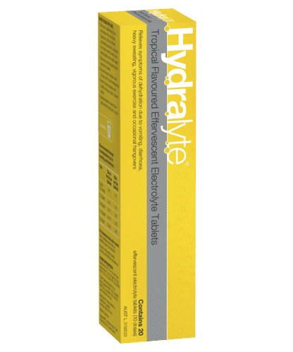 Hydralyte Effervescent Tropical 20 Tablets