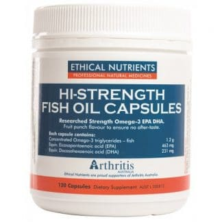 Ethical Nutrients Hi Strength Fish Oil 120 Capsules