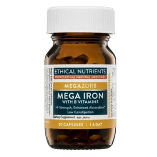 Ethical Nutrients Mega Iron With Vitamin B 30 Capsules