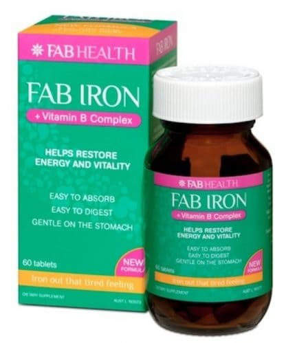 Fab Iron + Vitamin B Complex 60 Tablets