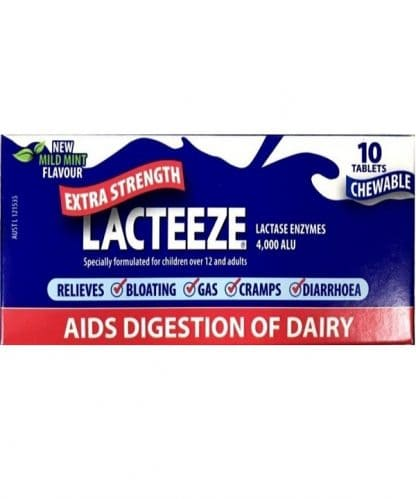 Lacteeze Extra Strength 4000 10 Tabs (Chewable)
