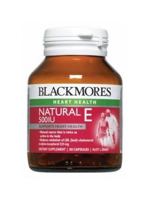 BLACKMORES NATURAL E 500IU 50 CAPSULES