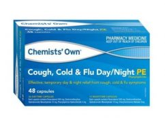 Chemist Own Cough Cold & Flu Phenylephrine 24 Capsules Day & Night