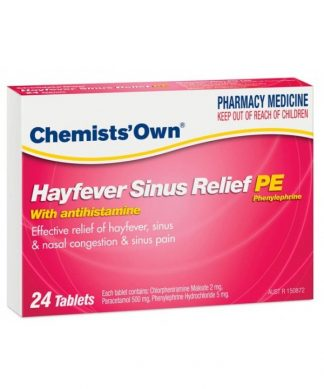 Chemist Own Hayfever Sinus Phenylephrine Tablet 24 Pack