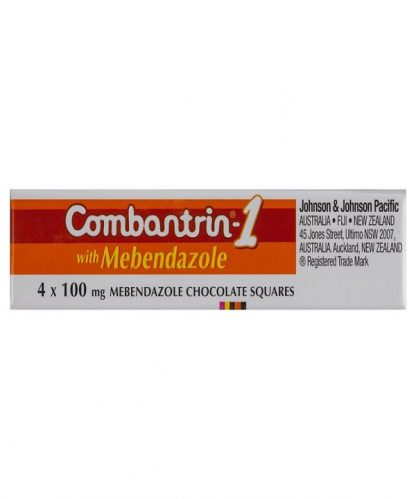 Combantrin 1 Chocolate Squares 4 Pack