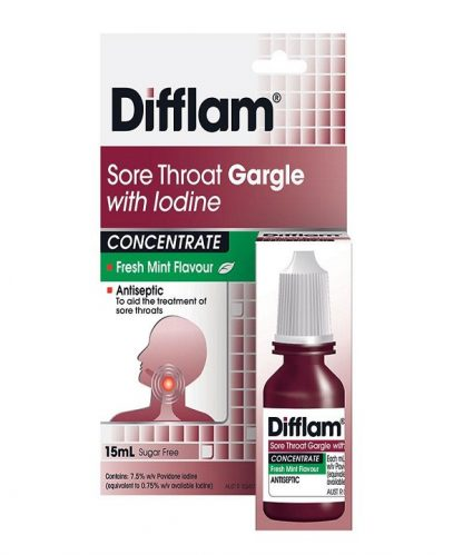 Difflam Gargle With Iodine 15Ml Fresh Mint Flavour