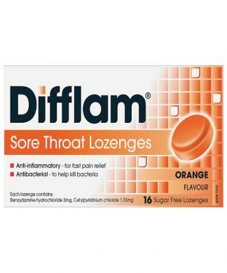 Difflam Lozenge Orange Sugar Free 16 Pack
