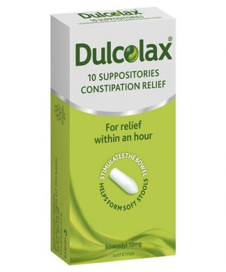 Dulcolax Suppositories Adult 10Mg 10 Pack