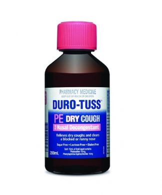 Durotuss Phenylephrine Dry Cough Plus Decongestant 200ML