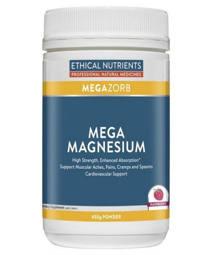 Ethical Nutrients Mega Magnesium Raspberry 450gm Powder