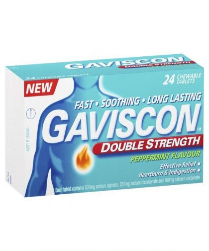 Gaviscon Double Strength Peppermint 24 Tablets