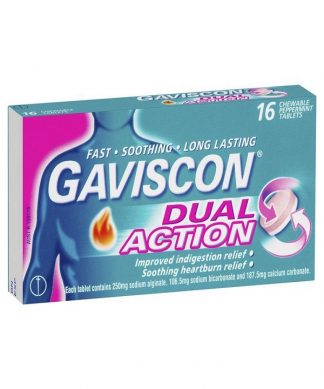 Gaviscon Dual Action Tablet 16 Tablets