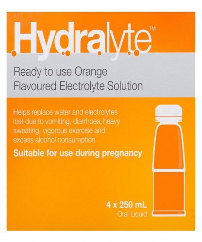 Hydralyte 4X250ML Orange Liquid
