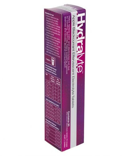 Hydralyte Effervescent Tablet Apple Black Currant 20 Pack