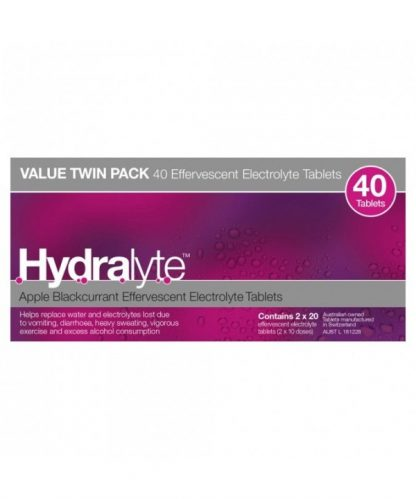 Hydralyte Effervescent Tablet Apple Black Currant 40 Pack