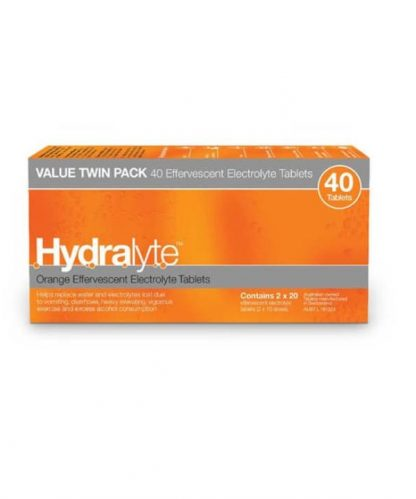 Hydralyte Effervescent Tablet Orange 40 Pack
