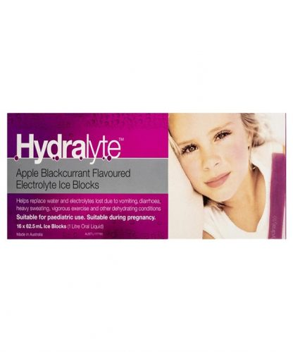 Hydralyte Ice Block Apple Black Currant 16 Pack