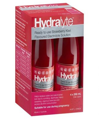 Hydralyte Liquid 4X250ML Strawberry Kiwi