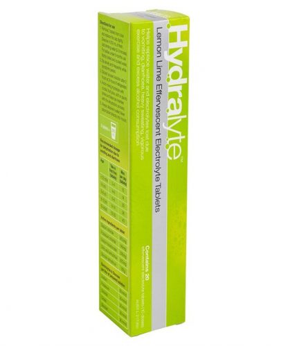 Hydralyte Sports Effervescent Tablet Lemon Lime 20 Pack