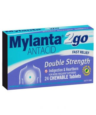 Mylanta 2Go Double Strength 24 Tablets