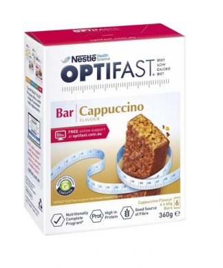 Optifast Vlcd Cappuccino Bar 6 Pack