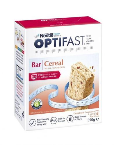 Optifast Vlcd Cereal Bar 6 Pack
