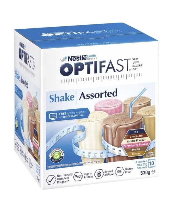 Optifast Vlcd Shakes Asstorted Pack 53G 10 Pack