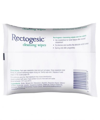Rectogesic Cleansing Wipes 25 Pack