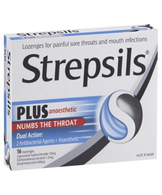 Strepsils Plus + Anaestheic Lozenges 16 Pack