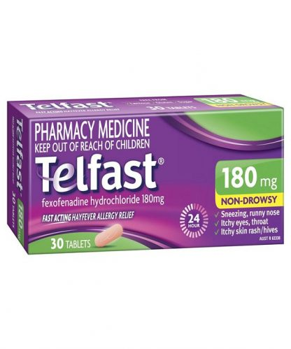 Telfast Hayfever Tablet 180Mg 30 Pack
