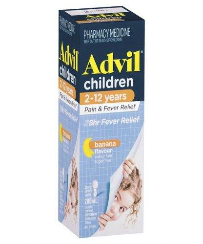 Advil Suspension Child 200Ml Banana Flavour
