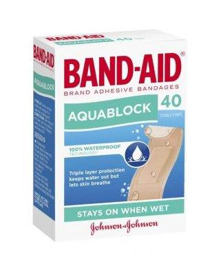 Bandaid Aquablock Strips Regular 40 Pack