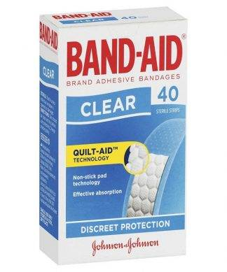 Bandaid Clear Strip 40 Pack