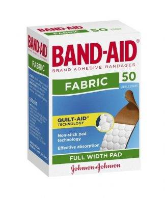 Bandaid Fabric Strips 50 Pack