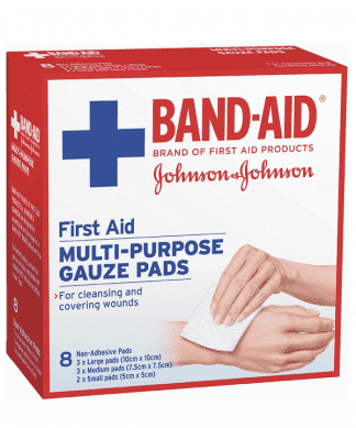 Bandaid First Aid Gauze Pads 8 Pack