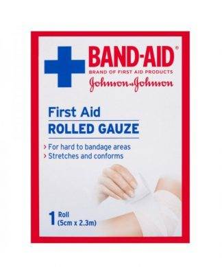 Bandaid First Aid Gauze Rolled 2.3M