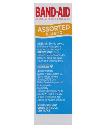 Bandaid Plastic Assorted Shapes 50 Pack