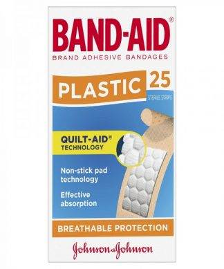 Bandaid Plastic Strip 25 Pack