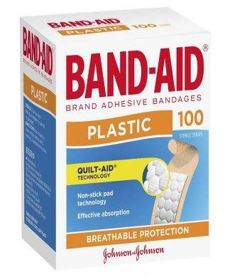 Bandaid Plastic Strips 100 Pack