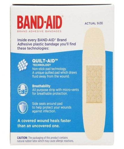 Bandaid Plastic Strips 50 Pack