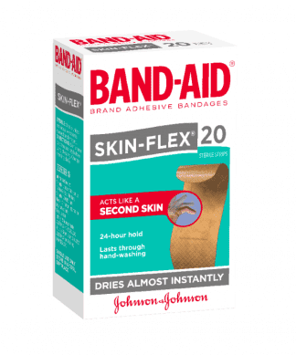 Bandaid Skin Flex Strips Reqular 20 Pack