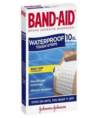 Bandaid Tough Strip Waterproof Extra Large 10 Pack
