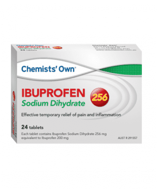 Chemist Own Ibuprofen Sodium Dihydr 256 Tablet 24 Pack