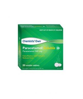 Chemist Own Paracetamol Soluble Tablet 20 Pack