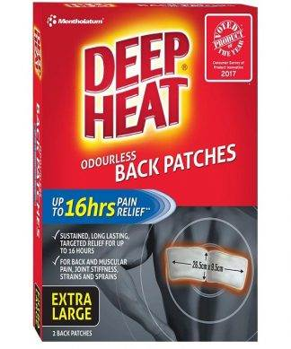 Deep Heat Patch Back 2 Pack