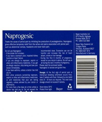 Naprogesic Tablet 275Mg 24 Pack