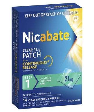 Nicabate Patch Cq Clear 21Mg 2 Week Kit