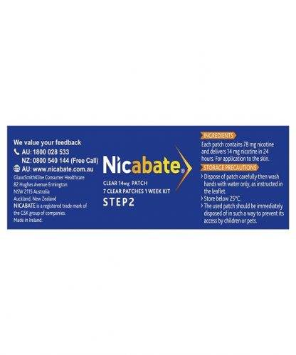 Nicabate Patches Cq Clear 14Mg 7 Pack