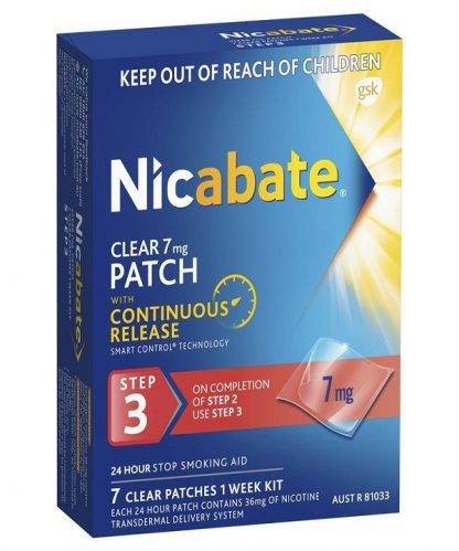 Nicabate Patches Cq Clear 7Mg