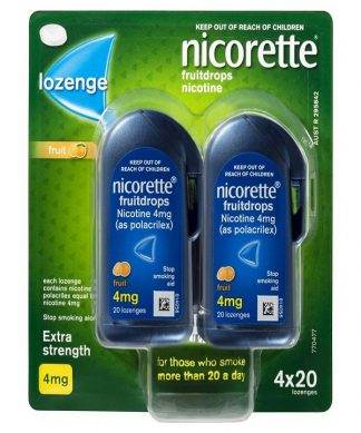 Nicorette Cool Drops Fresh Fruit 80 Lozenge 4Mg
